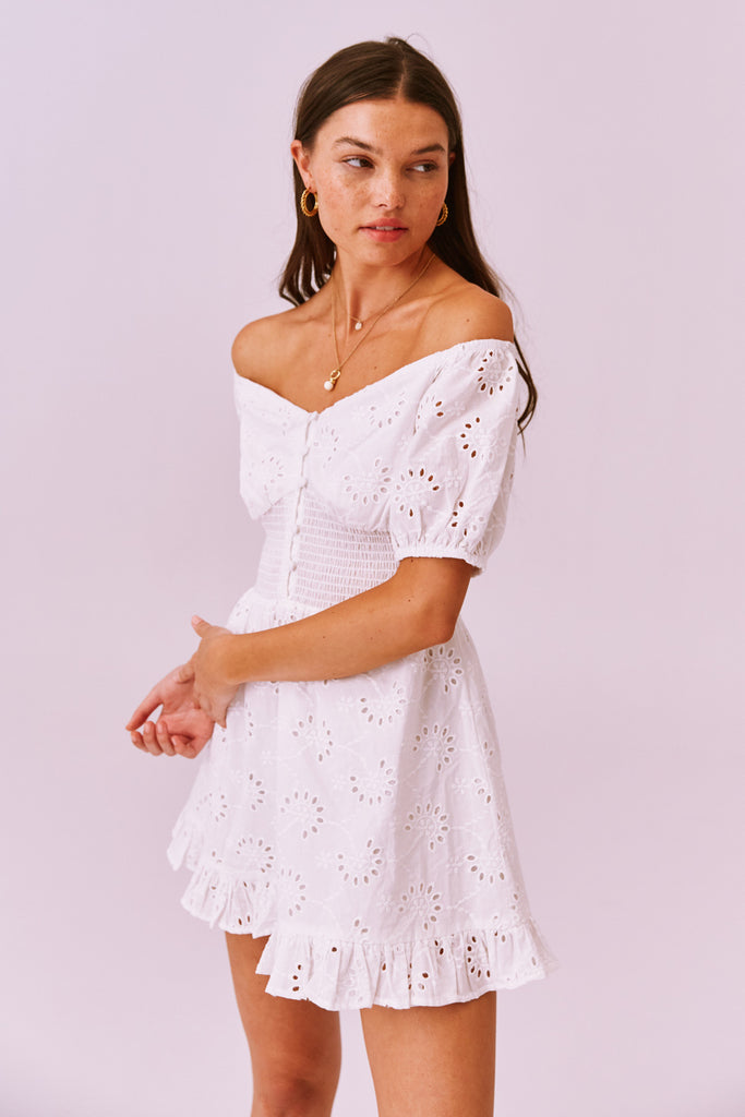 DITSY DOO MINI DRESS white