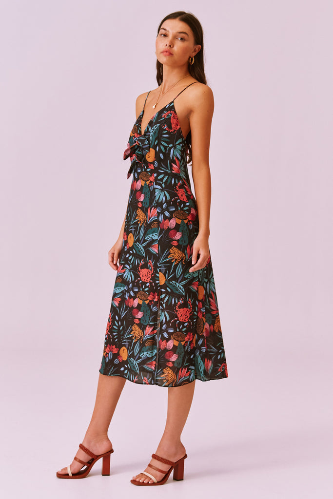 SALLY DRESS black tropical