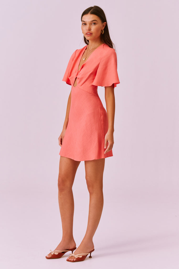 SALLY MINI DRESS coral