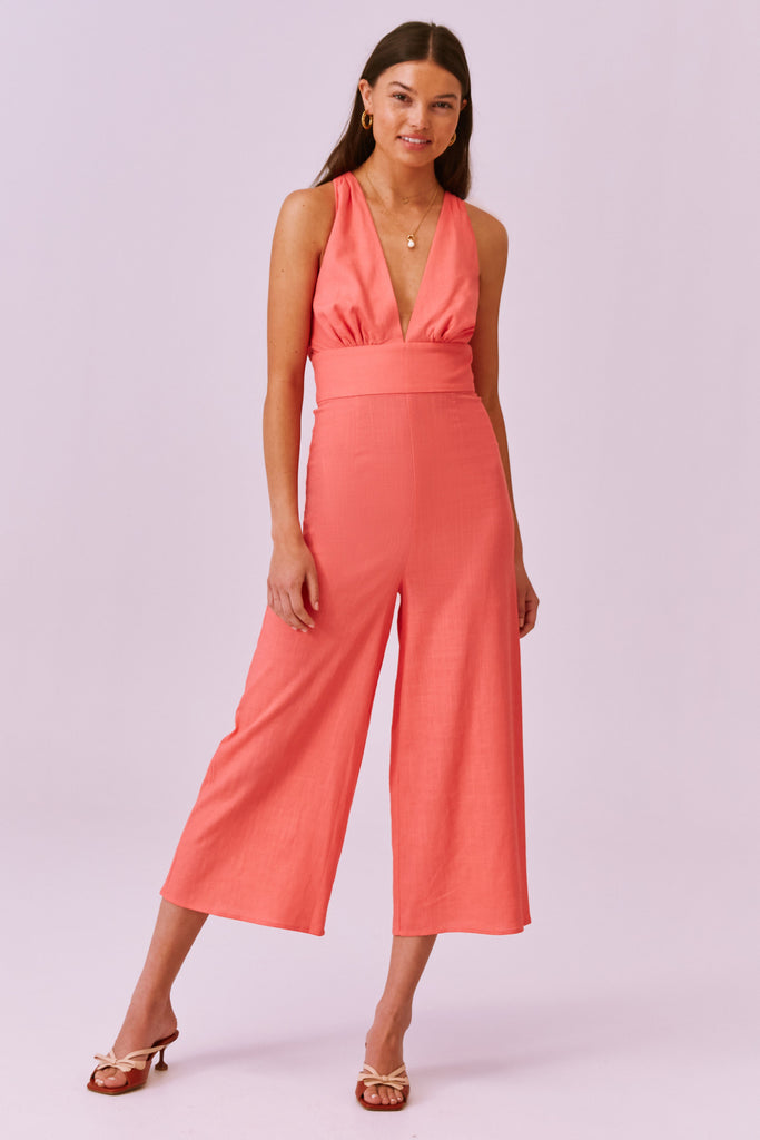 SALLY PANTSUIT coral