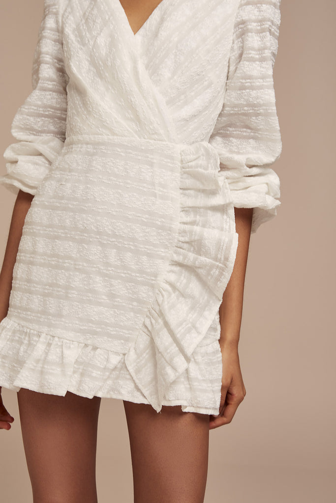 SOFIA LONG SLEEVE DRESS ivory
