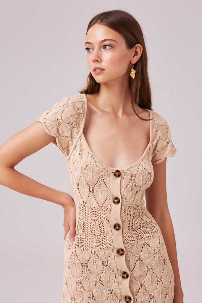 COCONUT KNIT DRESS tuscan
