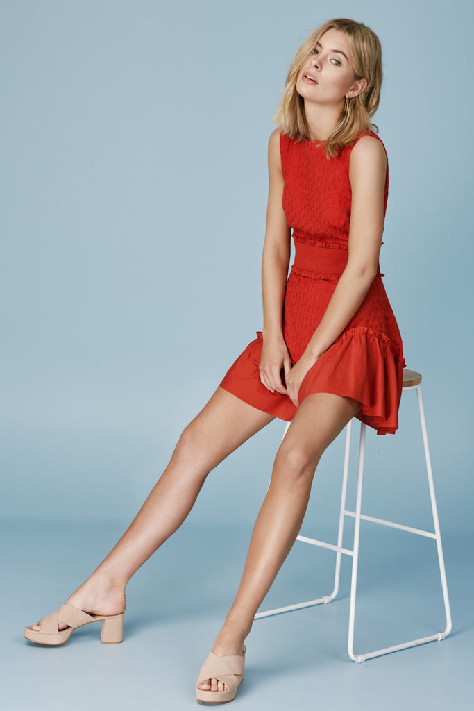 MEMENTO MINI DRESS red