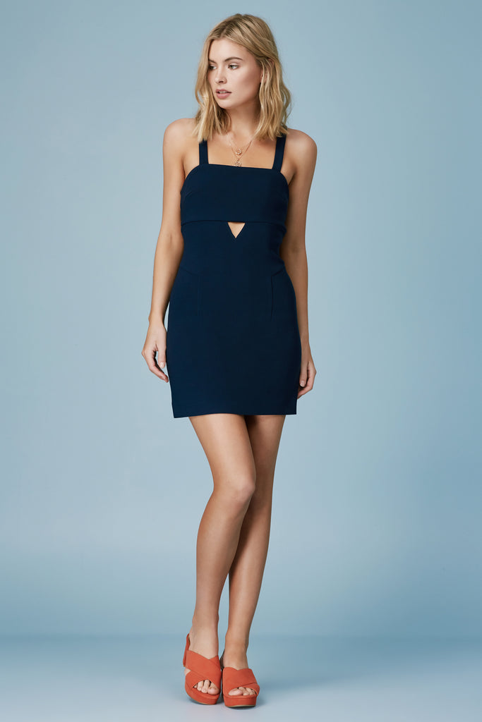 TRIBUTE MINI DRESS navy