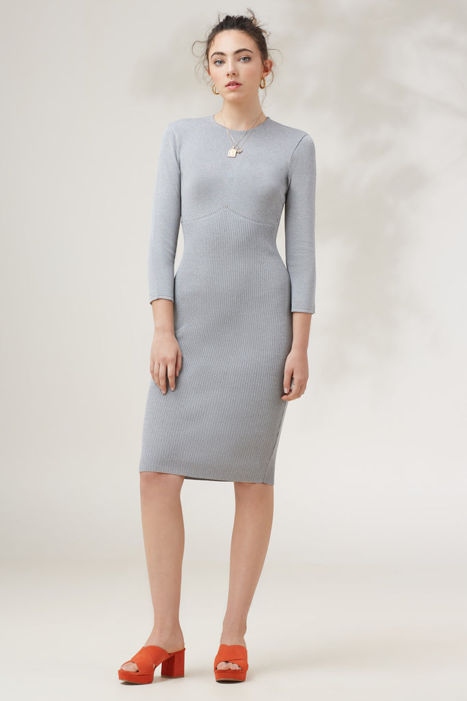 EARTHBOUND KNIT DRESS grey marle