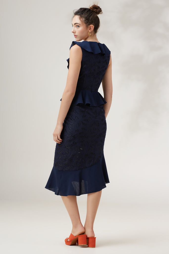 KINDRED MIDI DRESS navy