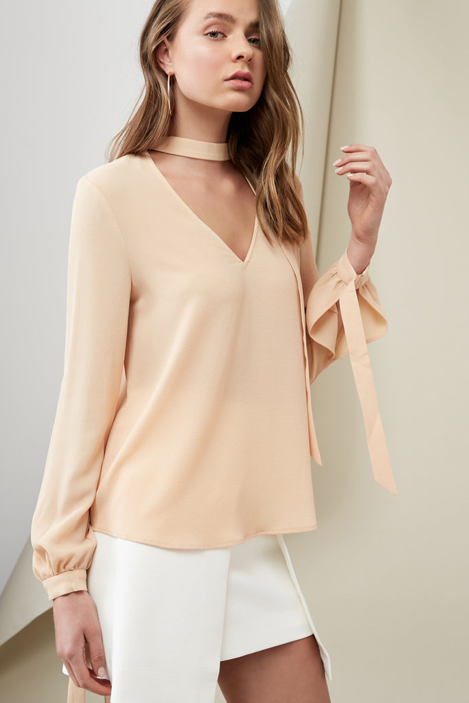 CURTIS BLOUSE wheat