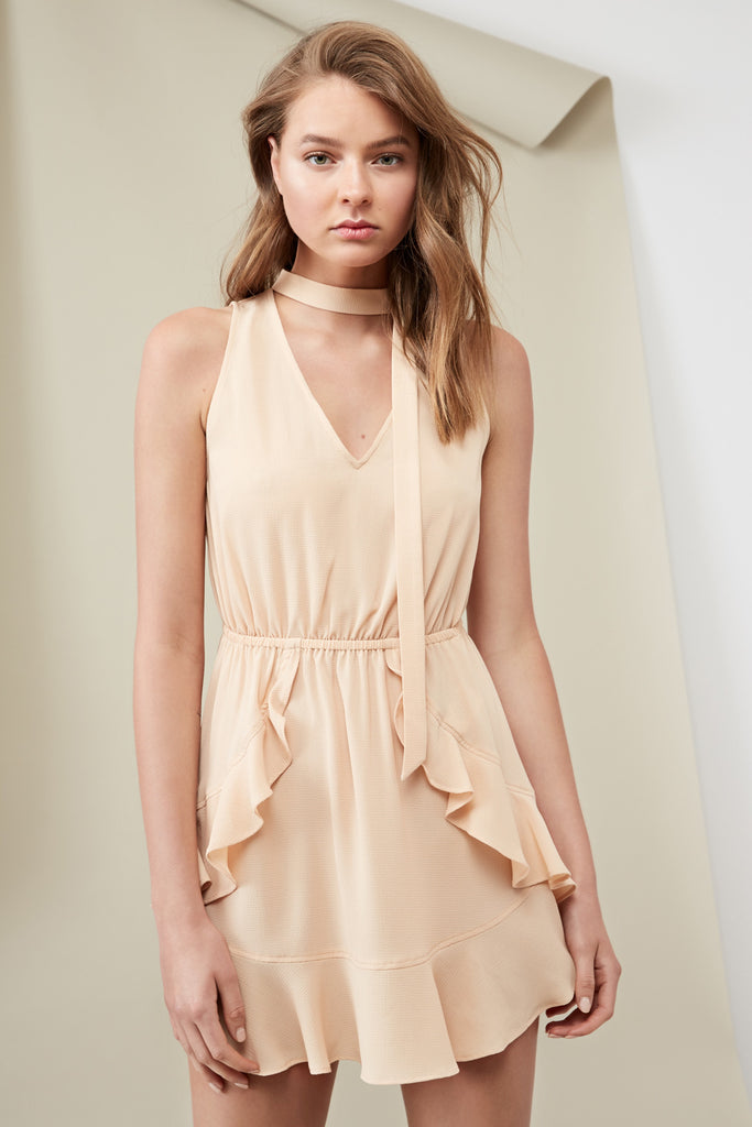 CURTIS DRESS wheat