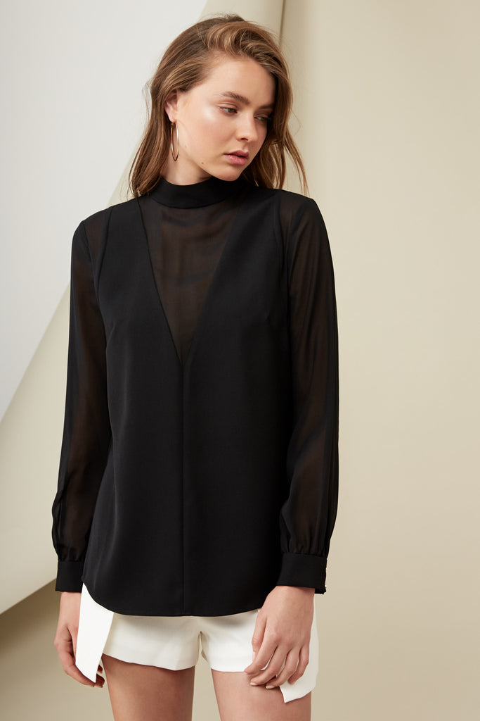 LUCA BLOUSE black