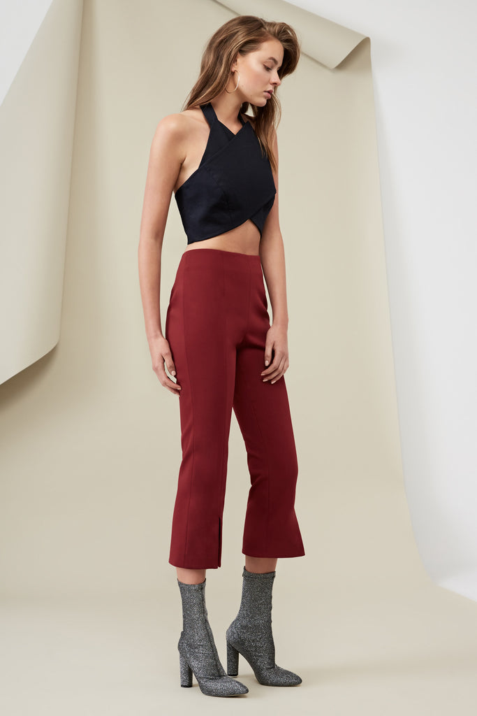 LUCIE PANT deep berry