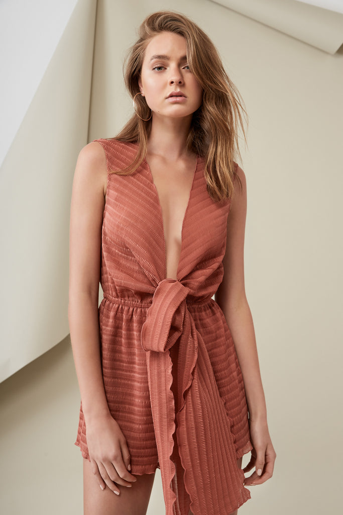 PIERRE PLAYSUIT papaya