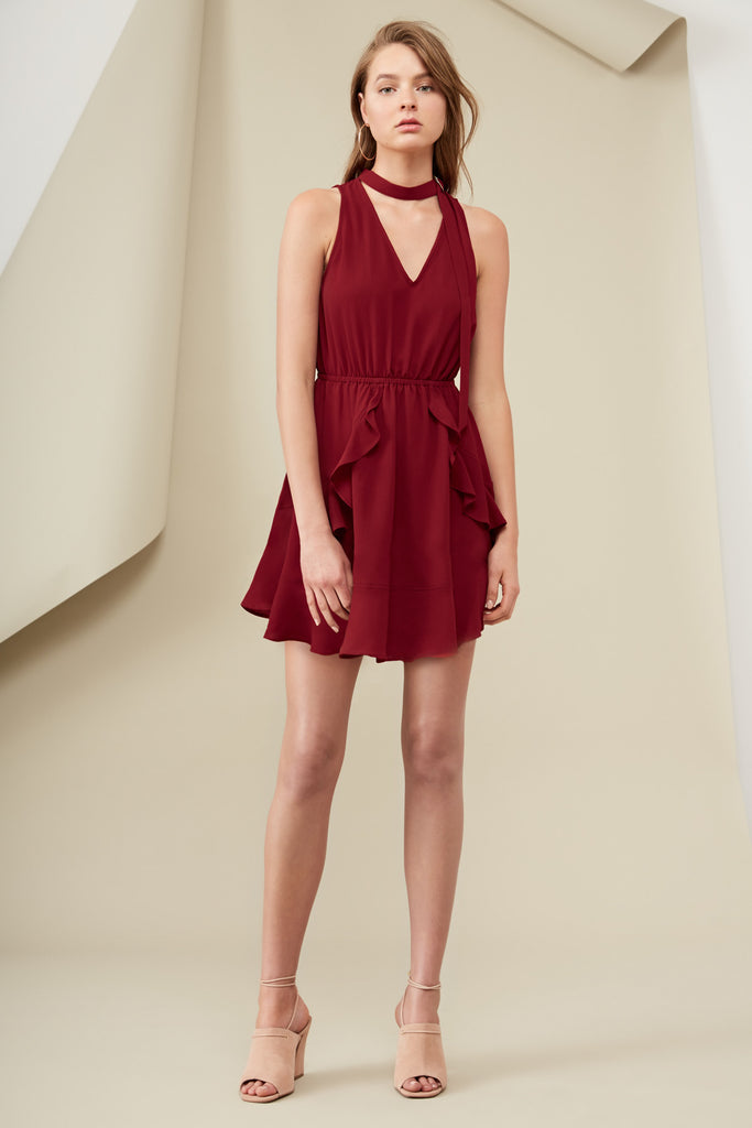 CURTIS DRESS oxblood