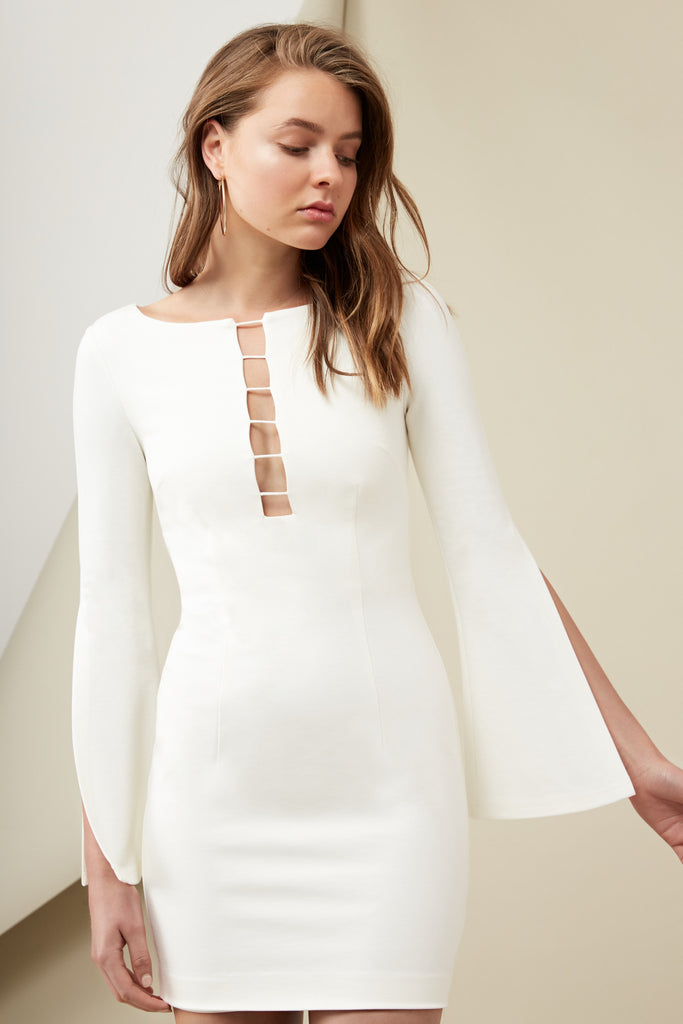 KENDRICK LONG SLEEVE DRESS cloud