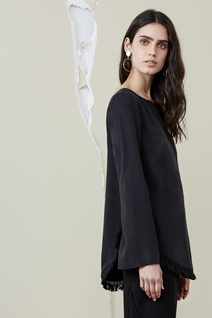 ASTER LONG SLEEVE TOP black