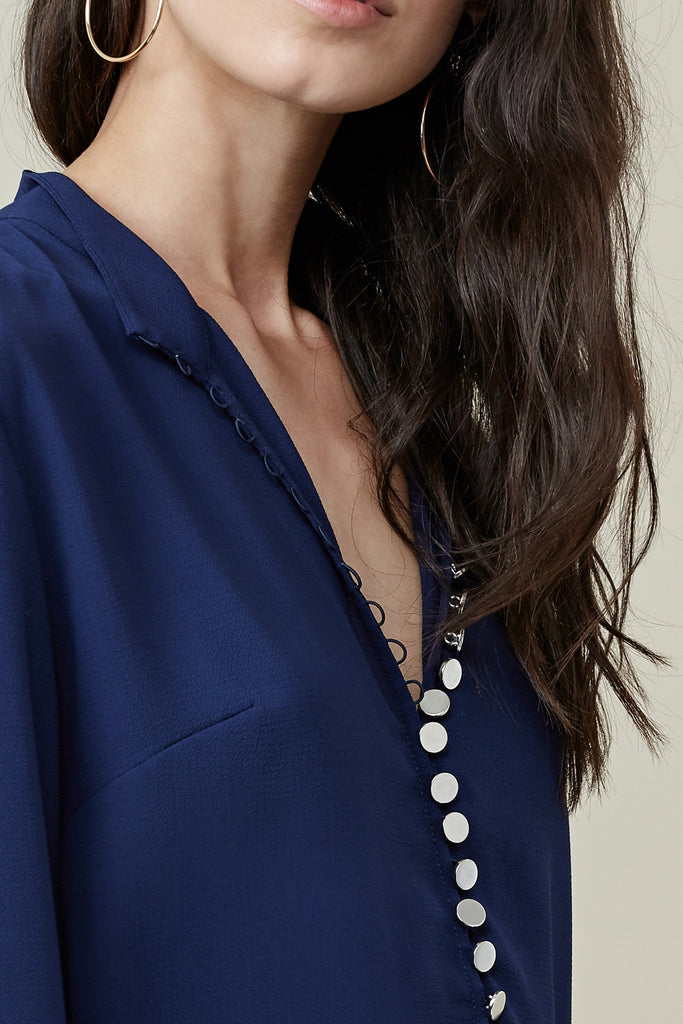 CARLOS BLOUSE navy