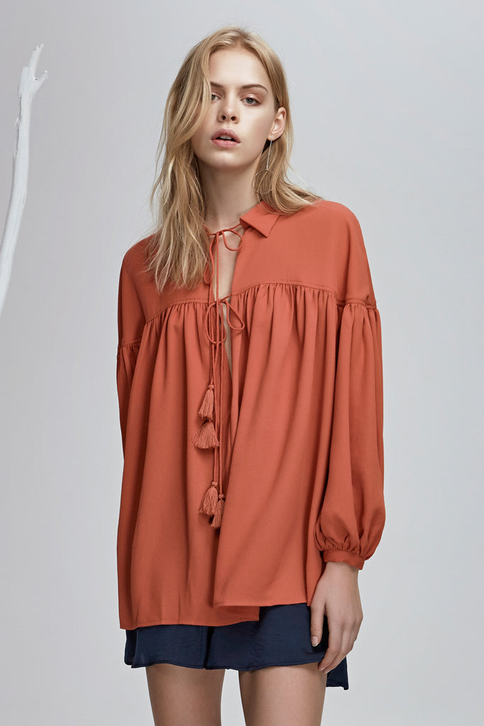 STEVIE BLOUSE saffron