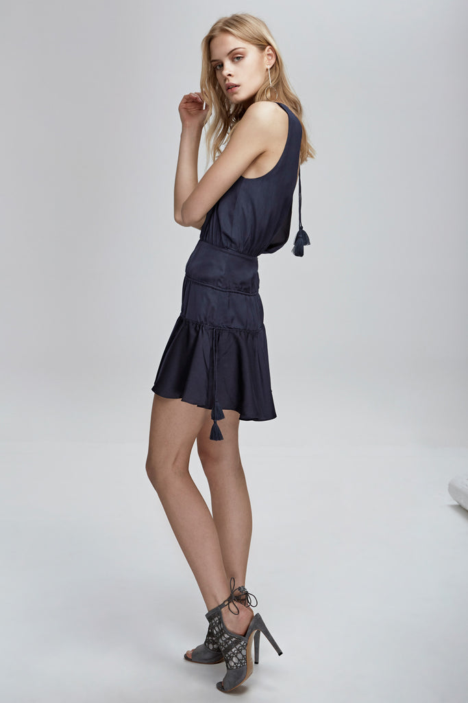 STEVIE MINI DRESS charcoal