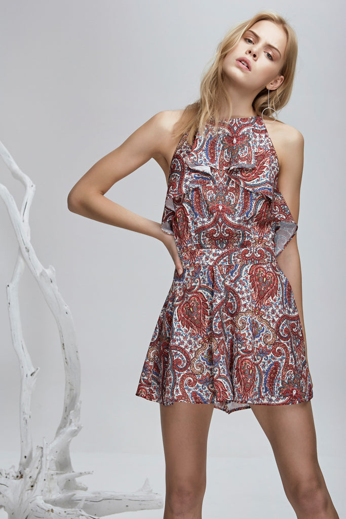WILLOW PLAYSUIT henna print