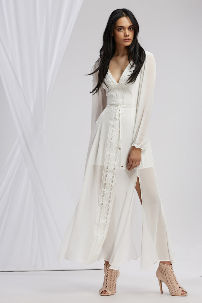 MAISON LONG SLEEVE MAXI DRESS cloud