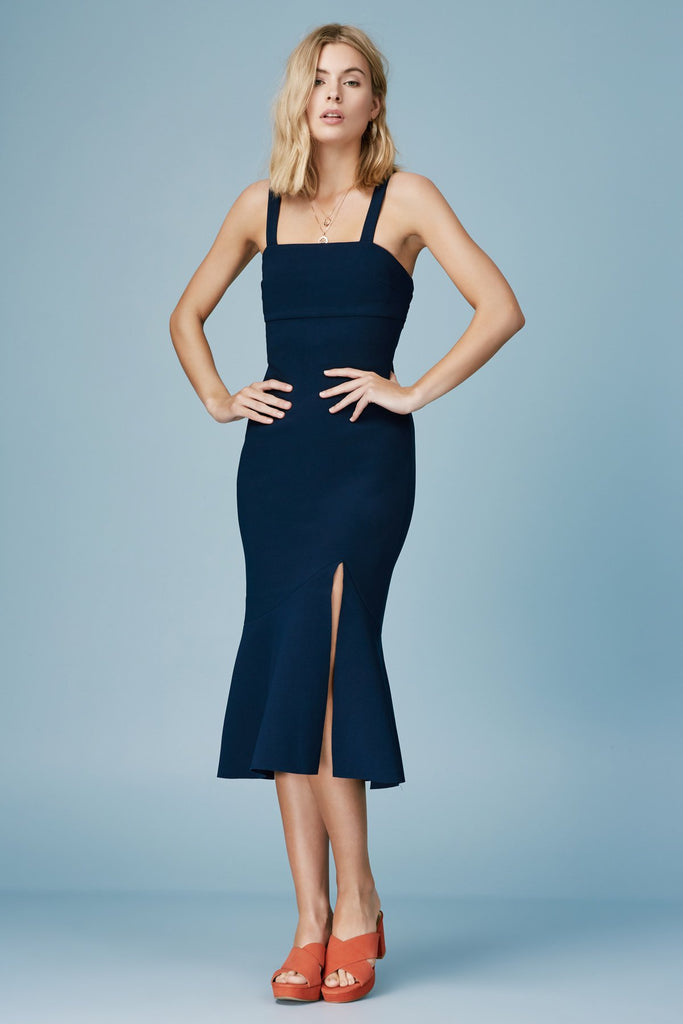 TRIBUTE MIDI DRESS navy