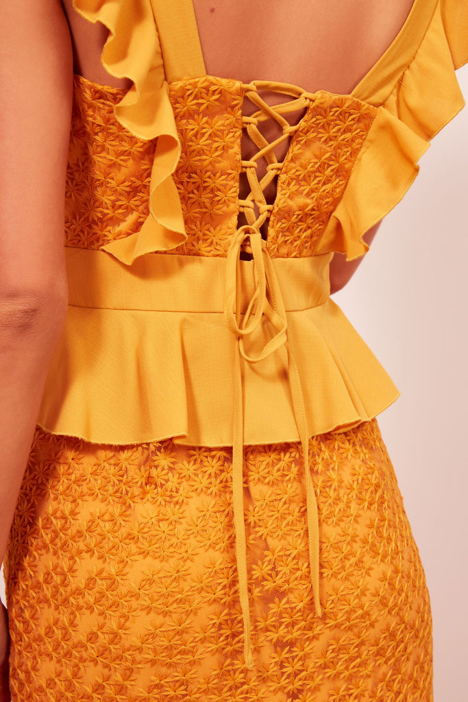 AFTERGLOW DRESS mustard