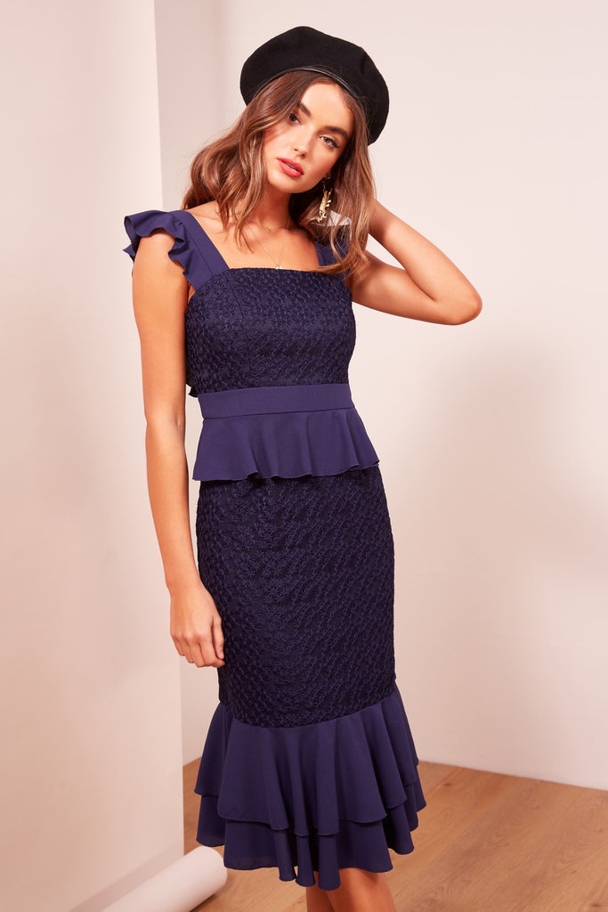 AFTERGLOW DRESS navy