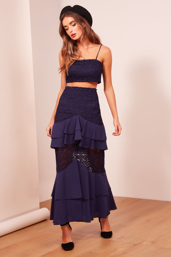 AFTERGLOW SKIRT navy