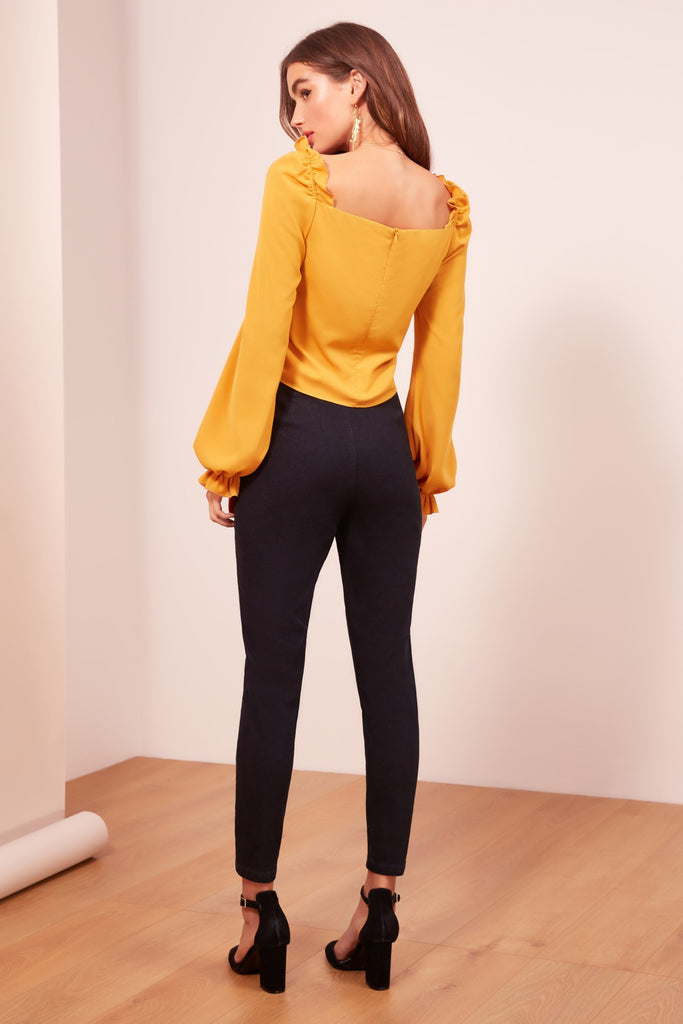 AFTERGLOW LONG SLEEVE TOP mustard