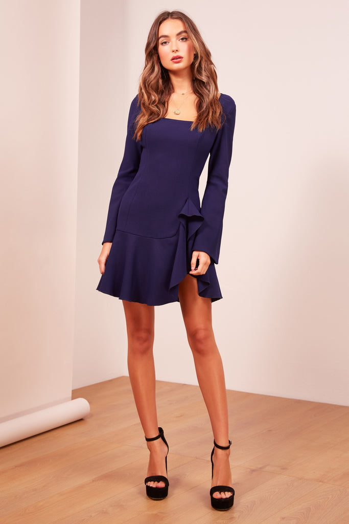 GOODBYE LONG SLEEVE DRESS navy
