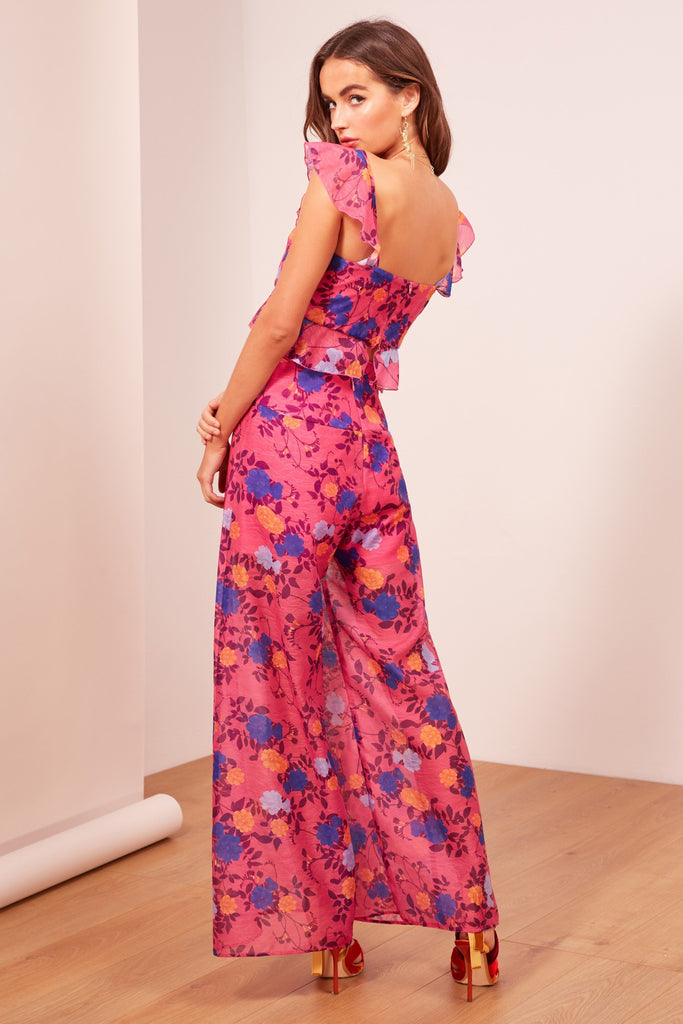 VISIONS TOP fuschia floral