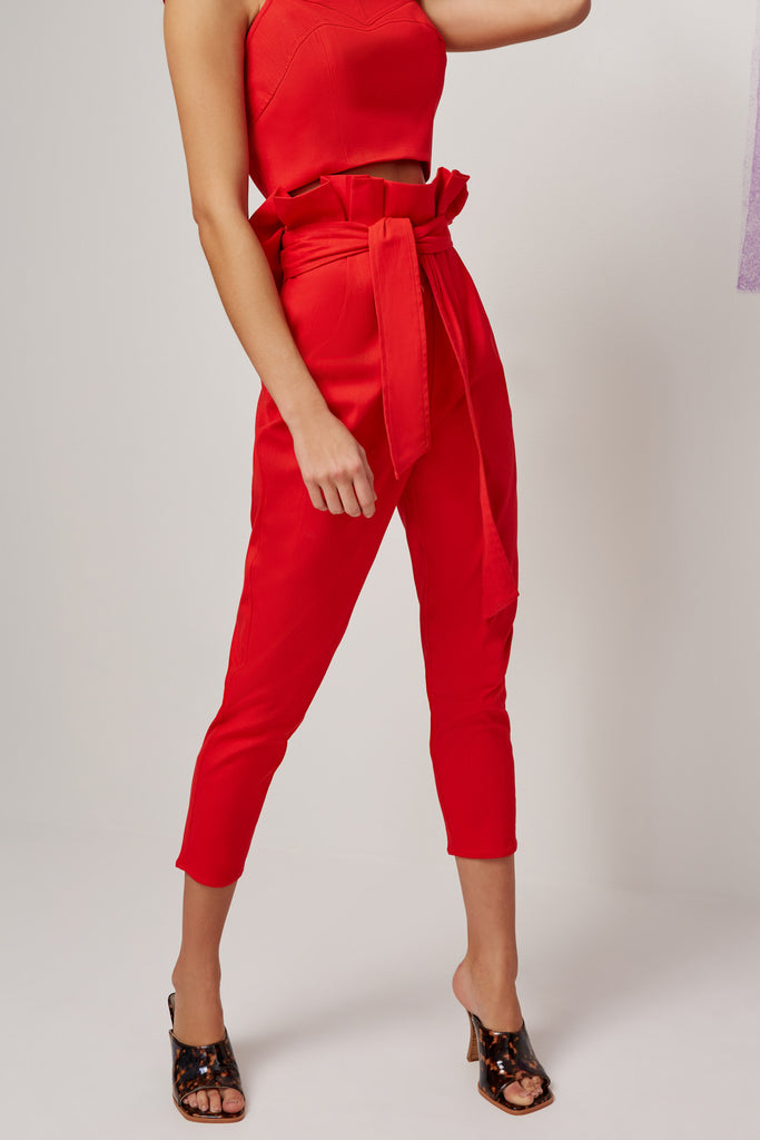 OPHELIA PANT red