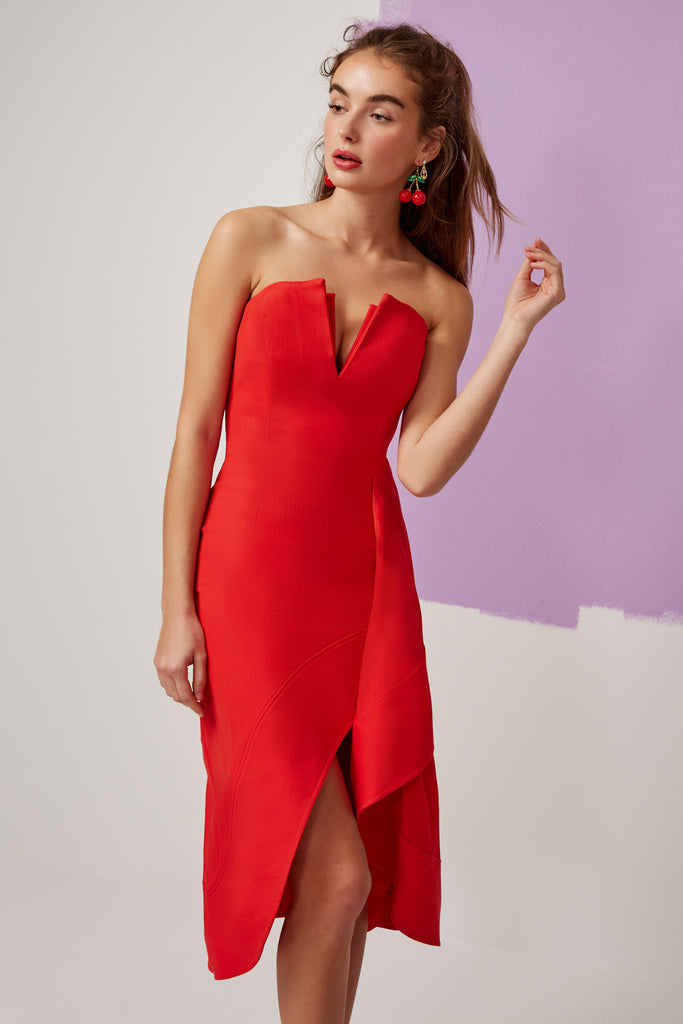 OPHELIA DRESS red
