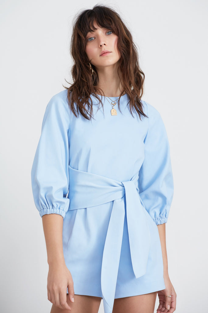 BRIDGES PLAYSUIT sky