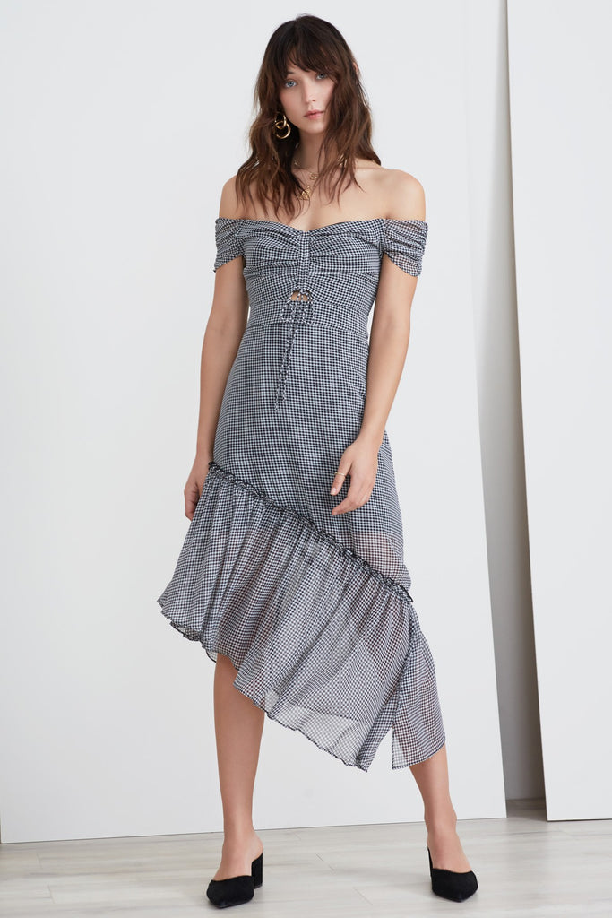 HORIZONS DRESS black gingham