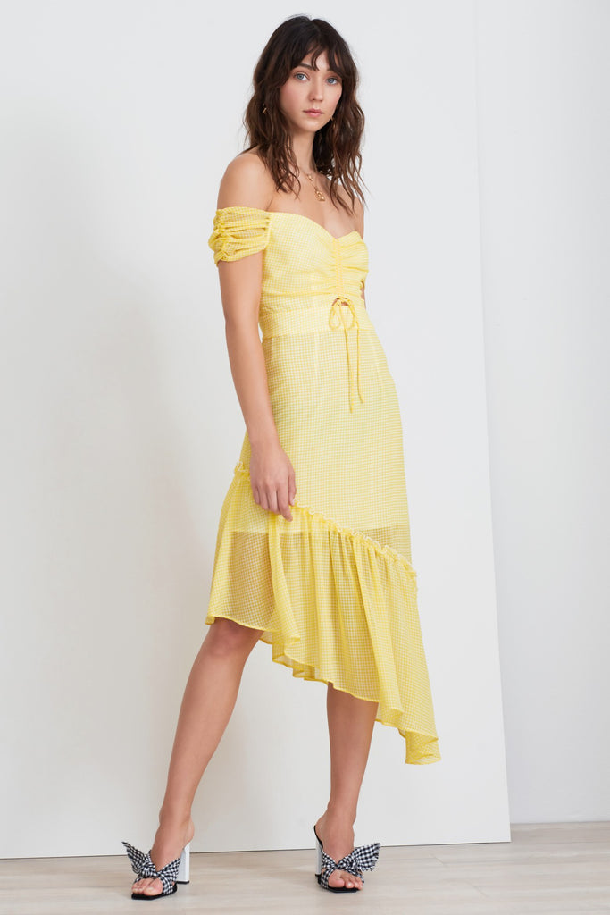 HORIZONS DRESS lemonade gingham