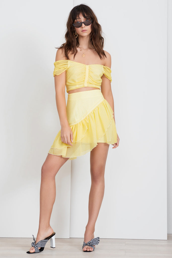 HORIZONS TOP lemonade gingham