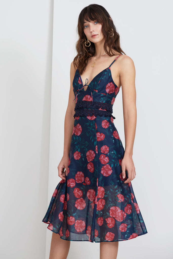 MEADOWS DRESS navy rose
