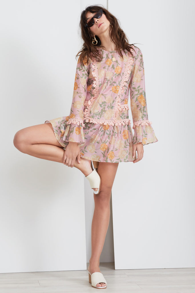 MEADOWS LONG SLEEVE DRESS petal rose