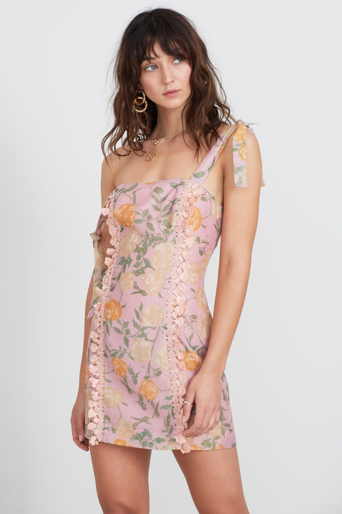 MEADOWS MINI DRESS petal rose