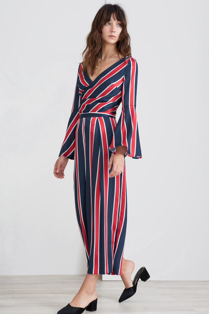 RETROGRADE PANT navy stripe