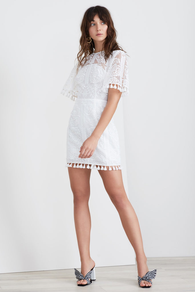 SPECTRUM MINI DRESS ivory