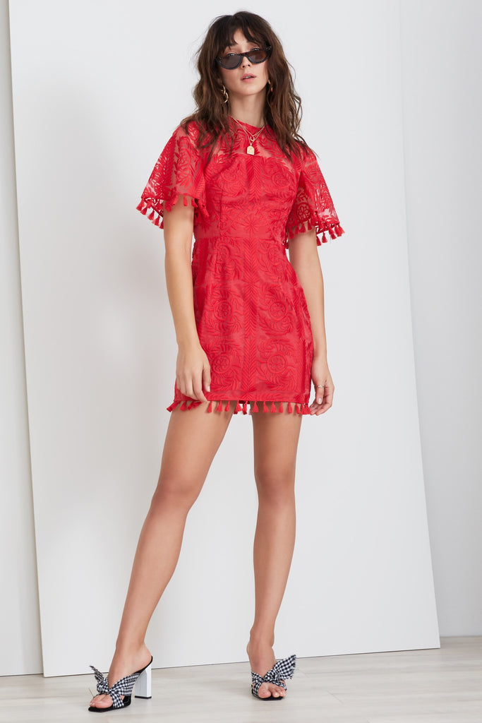 SPECTRUM MINI DRESS red