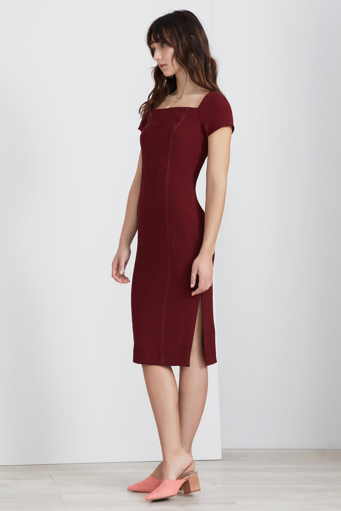 VICE MIDI DRESS plum