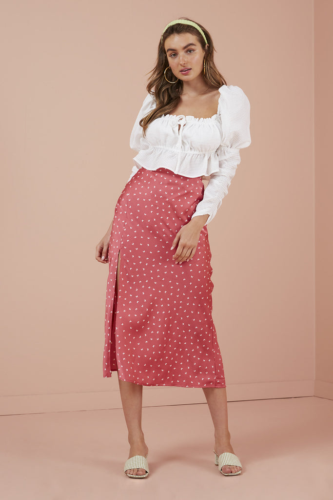 EMILIA SKIRT pink butterfly
