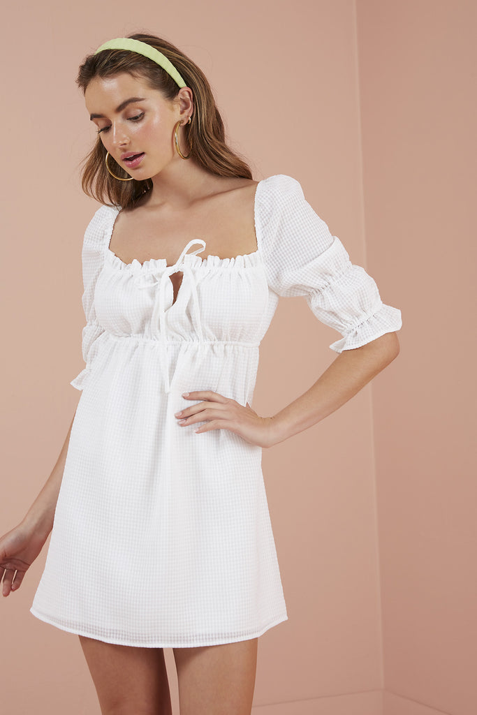 DOLLY MINI DRESS ivory