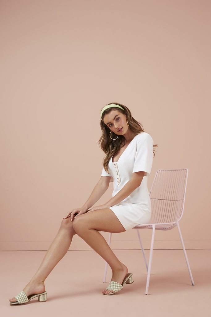 RAE MINI DRESS ivory