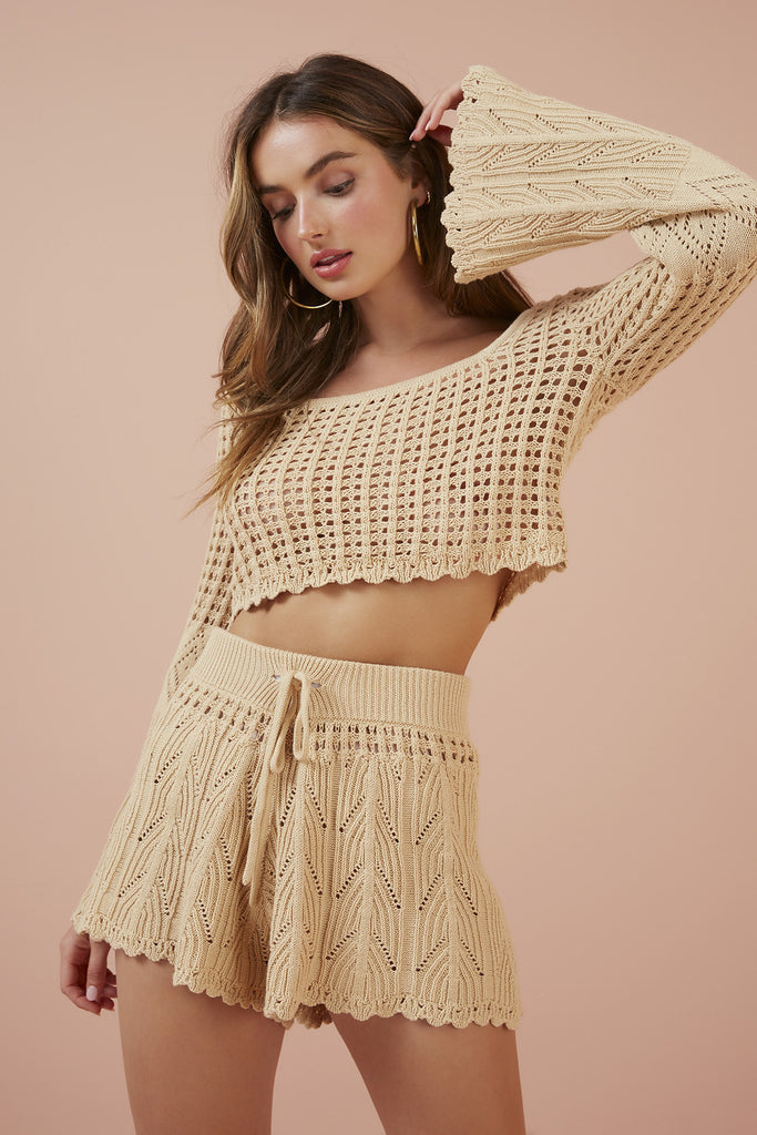 AFTERNOONS KNIT SHORT natural