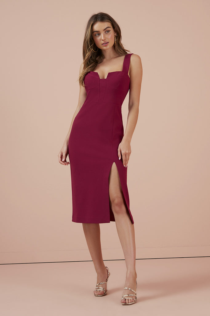 LUNA DRESS berry