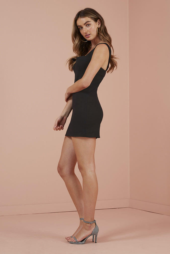 LUNA MINI DRESS black