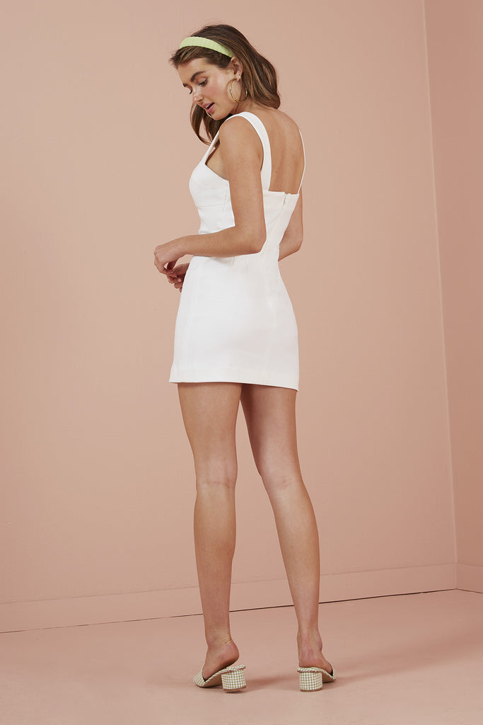 LUNA MINI DRESS ivory